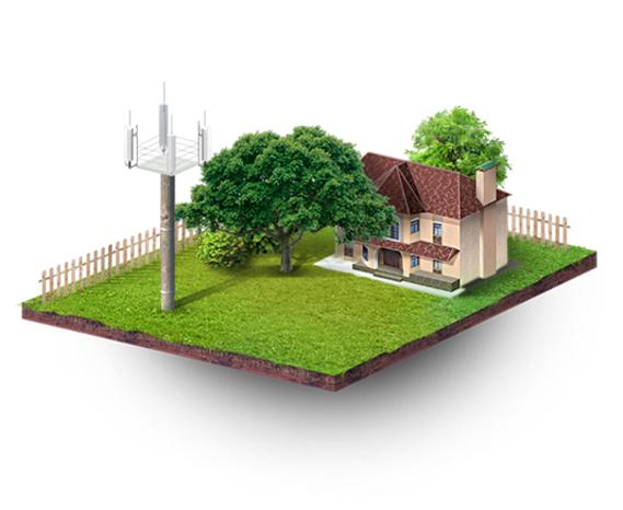 Дом с оборудованием связи